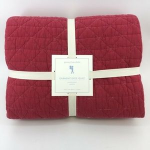 Pottery Barn Kids Garment Dyed Quilt Twin Red